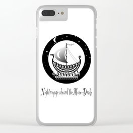 Night voyage aboard the Moon-Drake Clear iPhone Case