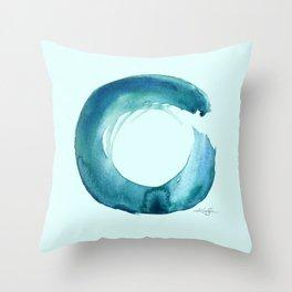 Serenity Enso No. 1 by Kathy Morton Stanion Throw Pillow