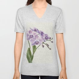 Purple phalaenopsis artwork Unisex V-Neck