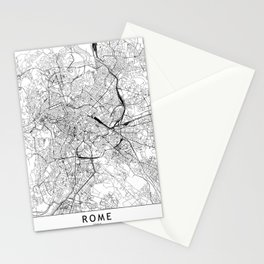 Rome White Map Stationery Cards