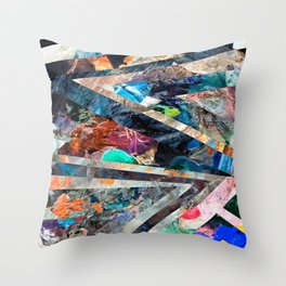 Triangle Forest Abstract Rainbow Throw Pillow