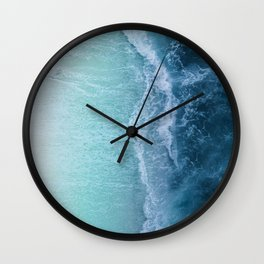 Turquoise Sea Wall Clock