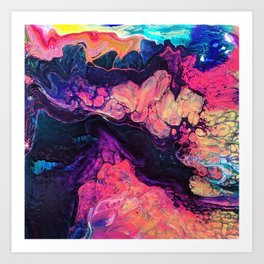 Rainbo Volcano Art Print