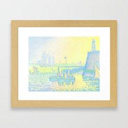 "Paul Signac ""Evening (The Jetty of Vlissingen) (Abend-La jetée de Flessingue)"" from the journal Pan Framed Art Print"