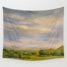 Late Afternoon in Vermont Nature Art Landscape Wall Tapestry