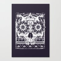 lotus Canvas Prints featuring Lotus by Tshirt-Factory