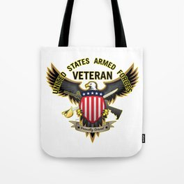 United States Armed Forces Military Veteran - Proudly Served Tote Bag