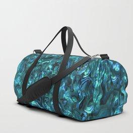 Abalone Shell | Paua Shell | Cyan Blue Tint Duffle Bag
