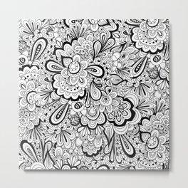 summer flower doodle Metal Print