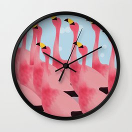 WHAT HAPPEN IF ANIMALS WEAR FLAMINGO'S OUTFIT.... Wall Clock