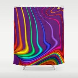fractal lines on violet Shower Curtain
