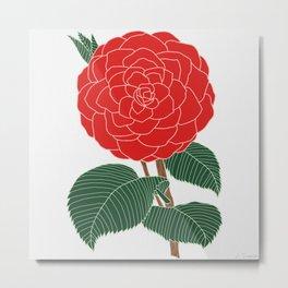 Red Dahlia Metal Print