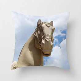 Stone Horse Head 1 Throw Pillow