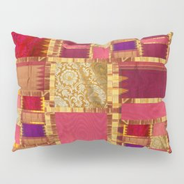 """Exotic fabric, ethnic and bohemian style, patches"" Pillow Sham"