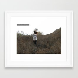 Hair Flip in the middle of no where Framed Art Print