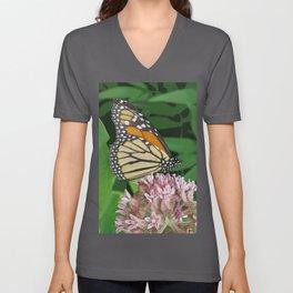 Monarch and Milkweed Unisex V-Neck