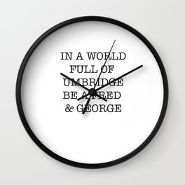 jk rowling Wall Clock
