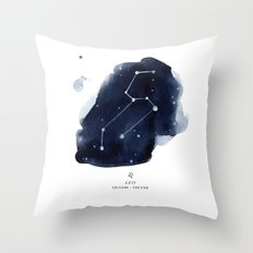 Zodiac Star Constellation - Leo Throw Pillow