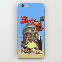 calcifer iPhone & iPod Skins featuring Studio of Dreams by CromMorc