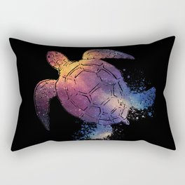 Watercolor Space Turtle Rectangular Pillow