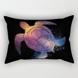 Watercolor Space Turtle Rectangular Pillow