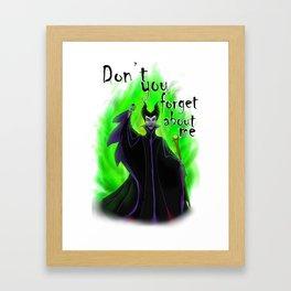Final Maleficent Framed Art Print