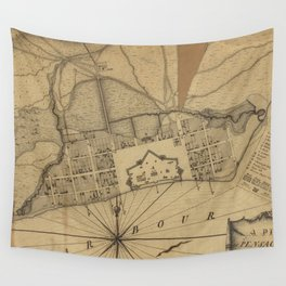 Vintage Map of Pensacola Florida (1778) Wall Tapestry