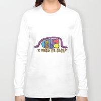 sleep Long Sleeve T-shirts featuring sleep by PINT GRAPHICS