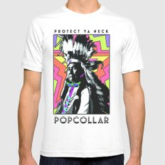 PopCollar W/JMR1 Mens Fitted Tee White MEDIUM