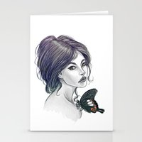 helen Stationery Cards featuring The Red Helen by pandatails