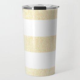 Simply Striped Golden Copper Sun Travel Mug
