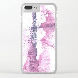 Lavender blush vague watercolor Clear iPhone Case