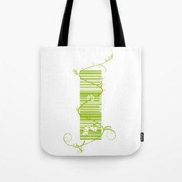 Barcode & Swirls Tote Bag