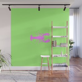 Lobster - Green & Pink Wall Mural