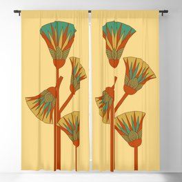 Ancient Egyptian lotus - Colorful Blackout Curtain