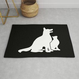 Dog and Cat BFFs Rug
