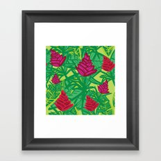 Tropical dreams green Framed Art Print