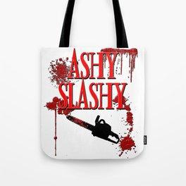 Ashy Slashy Chainsaw Tote Bag