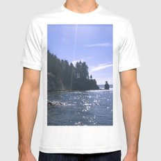 Sunspots MEDIUM White Mens Fitted Tee