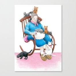 Crazy Cat Lady Canvas Print