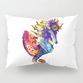 Rainbow Seahorse, seahorse art design Pillow Sham