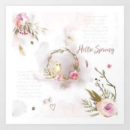 Hello Spring_01 Art Print
