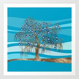 Nazar Charm Tree Art Print
