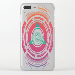 Techno-Summer-Sunrise-Vibes Clear iPhone Case