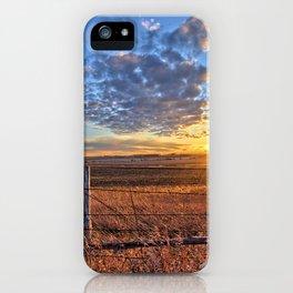 Sunset Fenceline 2 iPhone Case