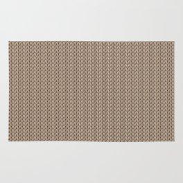 Knitted spring colors - Pantone Hazelnut Rug