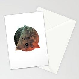 Wolf Galaxy (Green) Stationery Cards