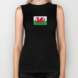 Flag of Wales,uk,great britain,dragon,cymru, welsh,celtic,cymry,cardiff,new port Biker Tank
