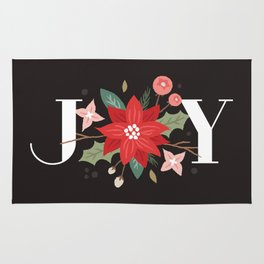 Joy Flourish - Slate Rug