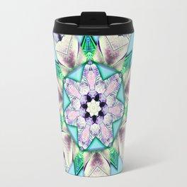 floral star mandala Travel Mug